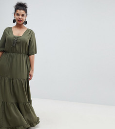 Платье макси с кисточками Junarose - Зеленый