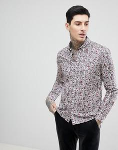 Рубашка с цветочным принтом Pretty Green - Фиолетовый