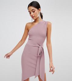 Эксклюзивное асимметричное платье с поясом Bec & Bridge - Фиолетовый