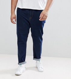 Суженные книзу джинсы цвета индиго ASOS PLUS - Синий