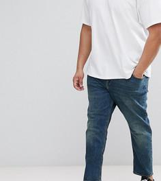 Суженные книзу темные винтажные джинсы ASOS PLUS - Синий