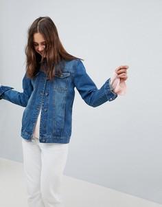 Длинная джинсовая куртка Brave Soul - Синий