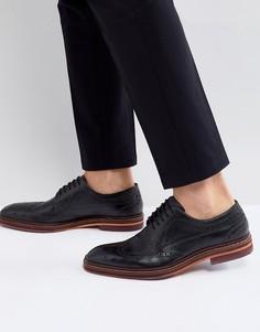 Черные кожаные броги Ted Baker - Черный