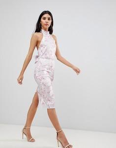 Облегающее платье с отделкой на спине True Violet - Мульти