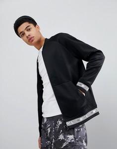 Трикотажная куртка на молнии с логотипом Love Moschino - Черный