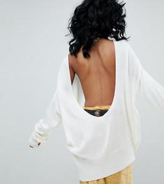 Джемпер с глубоким вырезом на спине Rokoko - Кремовый