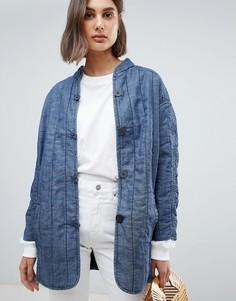 Стеганая джинсовая куртка Waven Lykke - Синий