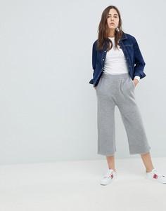 Трикотажные брюки с широкими штанинами Neon Rose - Серый
