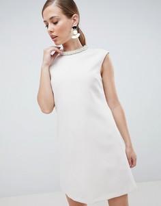 Платье мини с отделкой Forever Unique - Белый