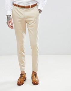 Эластичные брюки скинни Harry Brown Biscuit - Бежевый