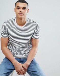 Синяя футболка в полоску Burton Menswear - Кремовый