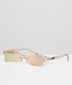 Солнцезащитные очки в круглой оправе цвета шампанского Quay Australia Festival Collection Sofia Richie Penny Royal - Золотой