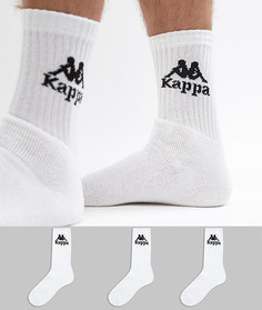 3 пары белых носков Kappa Banda - Белый