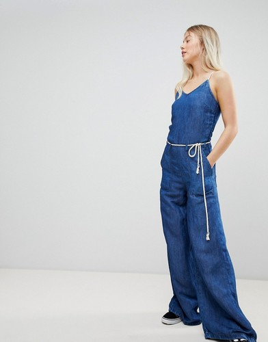 Джинсовый комбинезон в стиле ретро Pepe Jeans - Синий
