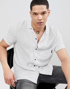 Рубашка с отложным воротником и принтом сердец Religion - Белый