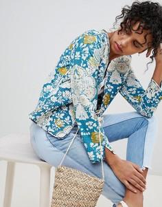 Куртка с цветочным принтом Pepe Jeans Lala - Темно-синий