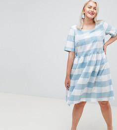 Короткое приталенное платье в клетку Junarose - Мульти