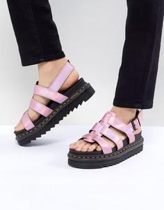 Розовые сандалии с эффектом металлик Dr.Martens Yelena - Розовый