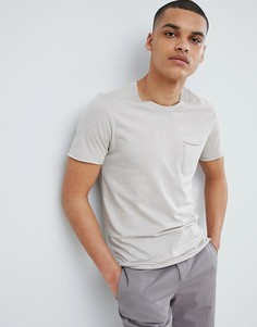 Футболка из органического хлопка с карманом Selected Homme - Серый