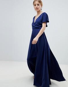 Платье макси с широкими рукавами Angel Eye - Темно-синий