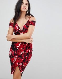Платье-футляр с цветочным принтом AX Paris - Мульти