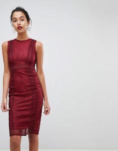Кружевное платье миди Ax Paris Premium - Красный