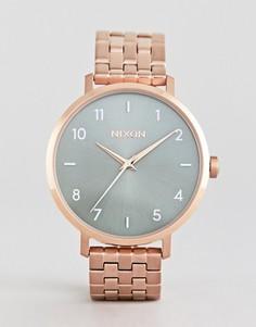 Наручные часы цвета розового золота Nixon A1090 Arrow - Золотой