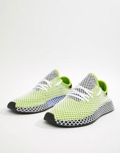 Зеленые кроссовки adidas Originals Deerupt Runner B27779 - Зеленый