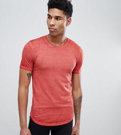Удлиненная футболка D-Struct TALL - Красный