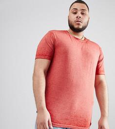 Длинная футболка D-Struct PLUS - Красный