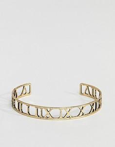 Золотистый браслет с римскими цифрами ASOS DESIGN - Золотой