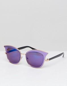 Фиолетовые солнцезащитные очки кошачий глаз Jeepers Peepers - Фиолетовый