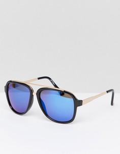 Солнцезащитные очки-авиаторы в металлической оправе Jeepers Peepers - Золотой