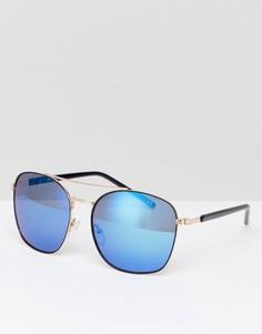 Золотисто-черные солнцезащитные очки-авиаторы Jeepers Peepers - Черный