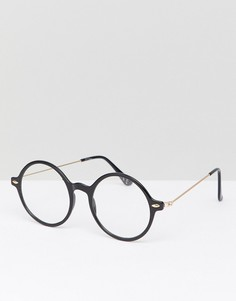 Круглые черные очки Jeepers Peepers - Серебряный