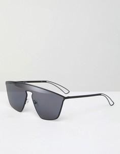 Черные солнцезащитные очки-маска Jeepers Peepers - Черный