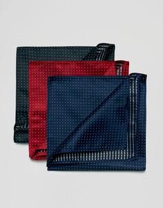 Набор из 3 платков для нагрудного кармана в горошек Devils Advocate - Мульти