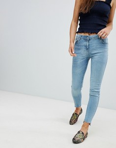 Зауженные джинсы со ступенчатым краем Parisian - Синий