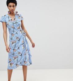 Мягкое платье с запахом и цветочным принтом Vero Moda Tall - Мульти