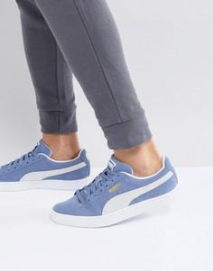 Синие классические замшевые кроссовки Puma 36534703 - Синий