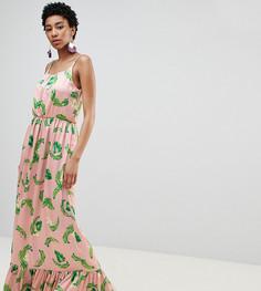 Платье макси с тропическим принтом Vero Moda Tall - Мульти