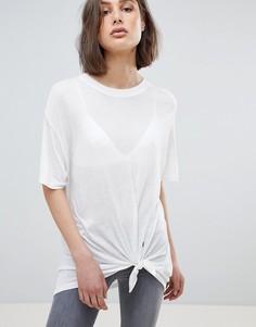 Oversize-футболка с завязкой AllSaints - Белый