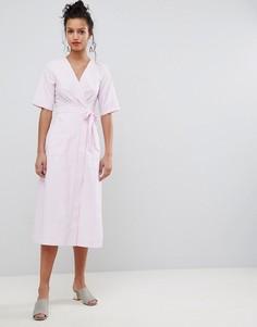 Платье миди с запахом Uttam Boutique - Розовый