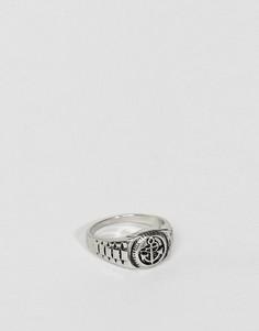 Серебристое кольцо Burton Menswear - Серебряный