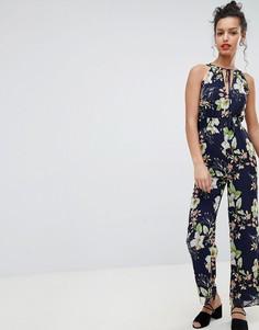 Комбинезон с халтером и цветочным принтом Uttam Boutique - Мульти