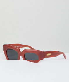 Красные солнцезащитные очки в стиле ретро Sonix - Золотой