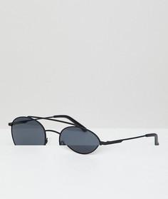 Черные круглые солнцезащитные очки Hawkers Hills - Черный