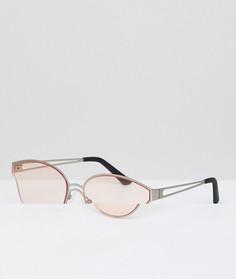 Розовые круглые солнцезащитные очки Hawkers Omnia - Розовый