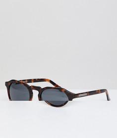 Солнцезащитные очки в круглой черепаховой оправе Hawkers Warwick - Коричневый