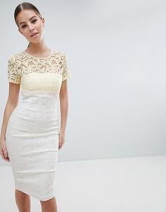 Кружевное платье-футляр 2 в 1 Vesper - Мульти